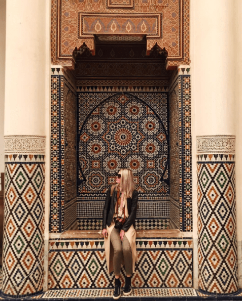 Ella at the Heritage Museum in Marrakech, Morocco