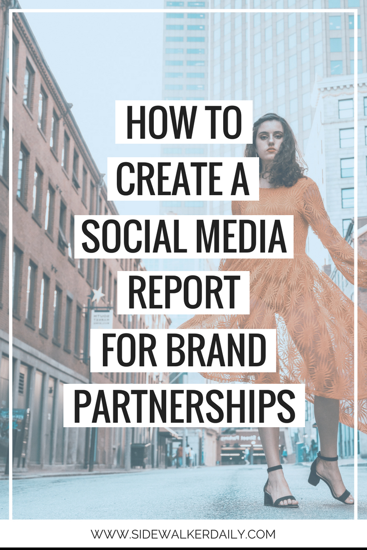 how to create a social media report